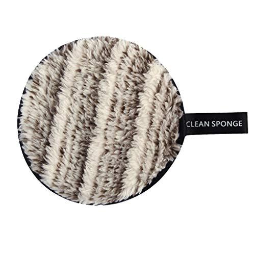 Homyl Eponge Houpette de Démaquillage Nettoyage Maquillage - Blanc-brun