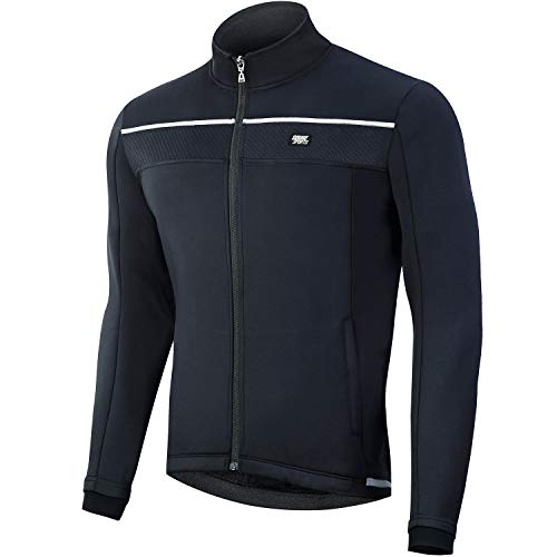 Souke Sports - Chaqueta de Ciclismo Hombre Chaqueta Ligera de Invierno MTB Reflectante Transpirabilidad Impermeable Chaqueta de Ropa Deportiva al Aire Libre