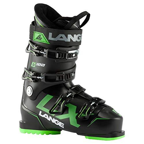 Lange LX 100 Skischuhe, Erwachsene, Unisex, Schwarz/Grün, 26.5 Mondopoint (cm)