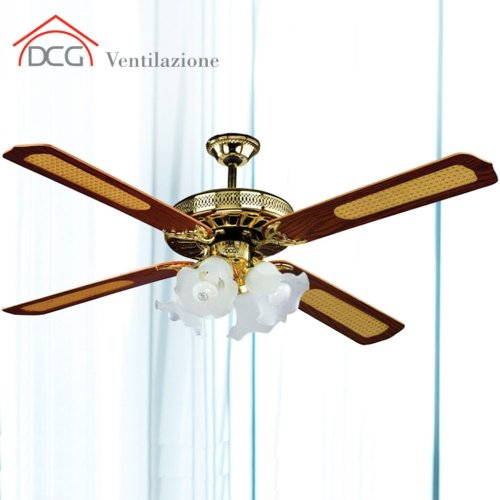 Ventilatore da soffitto 4 pale DCG Eltronic VE CRD53 L