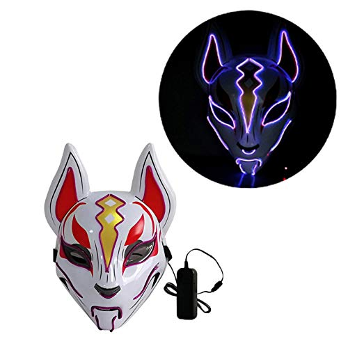 Maschera Halloween LED, Mascherare di Volpe A...