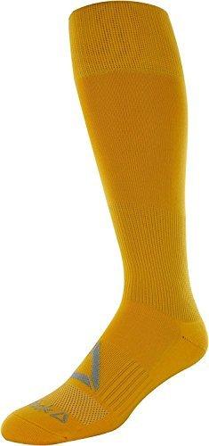 Reebok All Sport Athletic Knee High Socks, (Gold, L)