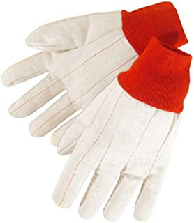 Liberty 4518R 20 oz Nap-In Cotton Double Palm Canvas Men's Glove with Red Knit Wrist (Pack of 12)