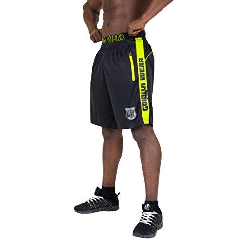 Gorilla Wear Shelby Shorts - Black/Neon Lime, XXXL
