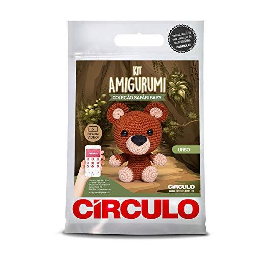 Kit Amigurumi Coleção Safari Baby - Material Completo e Receita
