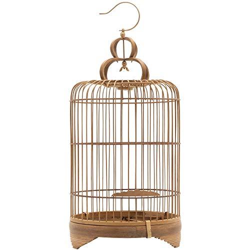 ディスプレイ用 鳥かご 竹 バンブー ナチュラル 30cm 吊り下げ つりさげ バードケージ おしゃれ アンティーク