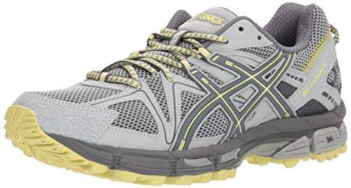 ASICS Women's Gel-Kahana 8 Trail Runner Mid Grey/Carbon/Limelight Women's Running Shoes