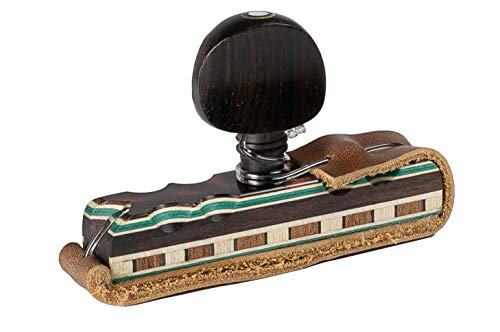 Cejilla flamenca artesanal de madera de palosanto para guitarras española flamenca acustica clasica de primera calidad. Capo capotraste hecho a mano. Accesorio flamenco musical original. (Marron)