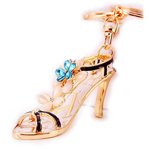 Gifts UK Zapatos de tacón alto diamante diamante diamante bolsa encantos bolso llaveros colgante, Blue (Azul) - g137388