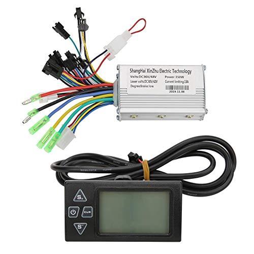 Alomejor Motor Controller 350W 36V/48V Elektro Bike Bürstenloser Motor Controller mit Regensicherem LCD-Display für E-Bike