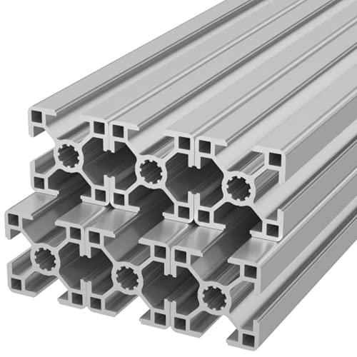 Ulber24 - Aluprofil 30x30 Typ B Nut8, 6x300mm =1,80m Aluminium Konstruktion Montage System 3030 Alu Stecksystem Vierkant Profil B-Typ Winkel u c