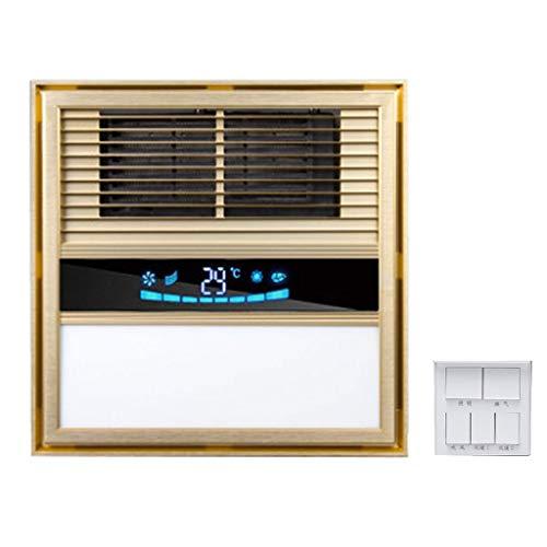 GXFC Bad 3 in 1 Ventilator, Decke Abluftventilator LED Deckenleuchte und Heizlüfter Combo, Erhitze a Entlüften Einheit, Digitale Temperaturanzeige mit Schalter