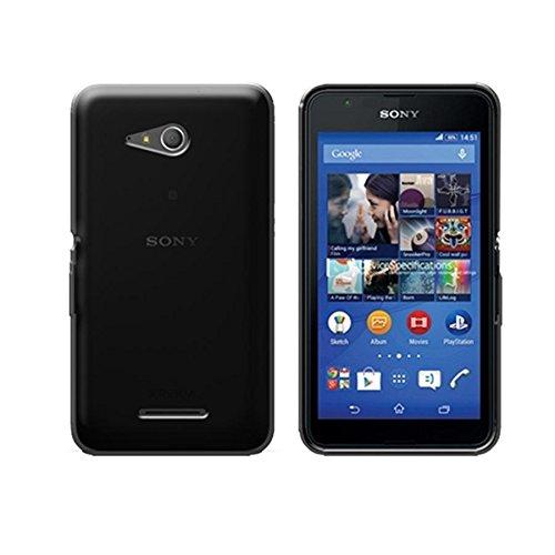halbstarr schwarz TPU Silikon Rückschale Transparent Für Sony Xperia E4G