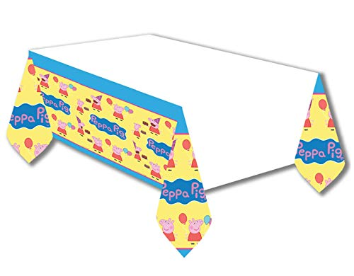 Amscan 571499 Peppa Pig Plastic Table Cover, 1 piece