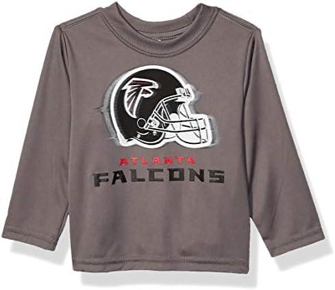 NFL Atlanta Falcons Boys Long Sleeve GREY LOGO TEE SHIRT Team Color 12M product image