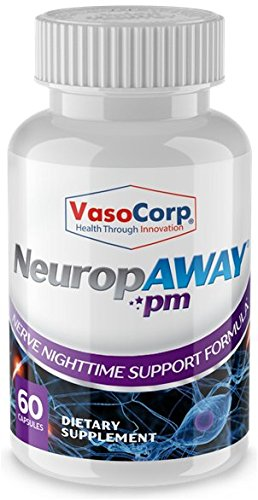 NeuropAWAY Nerve Support Formula - Neuropathy Pain Relief, Burning Feet, Tingling, Numbness, Pain in Legs (60 Capsules Night)
