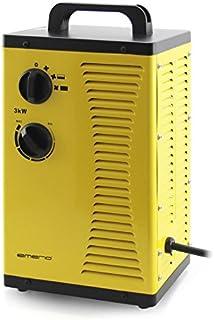 Emerio FH-110705 Calefactor con Ventilador de Cerámica Profesional, 3000 W, 230 V, Amarillo