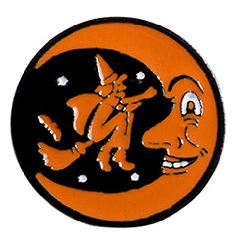 Metal de la historieta de Halloween esmalte broche del fantasma de la calabaza de café bruja de la luna Mochila solapa de Partido Placas pernos favores de joyería Botones de regalo for adultos cuentos