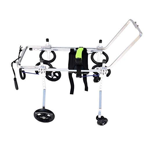 Silla de ruedas para perros para patas traseras, soporte para patas traseras para perros, varios tamaños, ruedas de ejercicio para animales pequeños, soporte trasero para perros, rehabilitación de pat