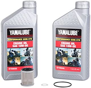 Oil Change Kit With Yamalube Performance Semi-Syn 10W-50 for Yamaha WR400F 1998-2000