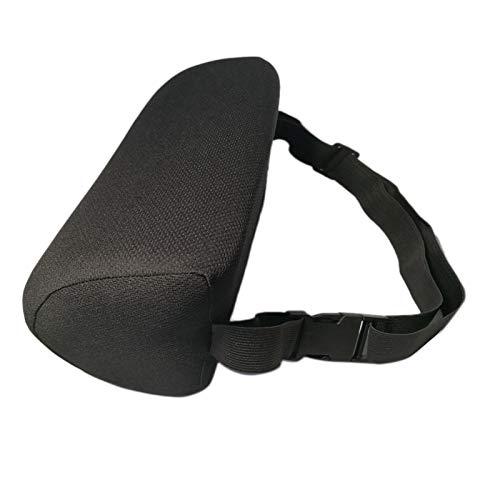 Cuasting Almohada de apoyo lumbar y espalda mejorada, rollo lumbar en forma de D para silla, cojín ergonómico de espalda inferior para silla de oficina y coche