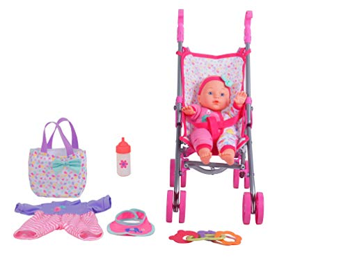 DREAM COLLECTION 12' Baby Doll Care Gift Set with Stroller