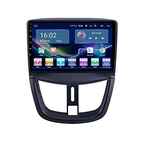 YIJIAREN Radio GPS Navegación para PEU-GEOT 207 Pantalla táctil IPS Android 10.0 Control del Volante BT Mirror-Link 4G WiFi con cámara de visión Trasera