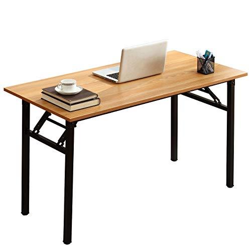 SogesPower Mesa Plegable, Mesa para computadora, mesas portátiles de Alto Rendimiento para Oficina en casa, estación de Trabajo, Escritorio de Estudio, Mesa de conferencias para Oficina en casa
