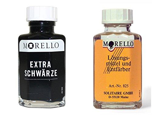 Morello Extra Schwärze 50ml + Morello Lederreiniger 50ml