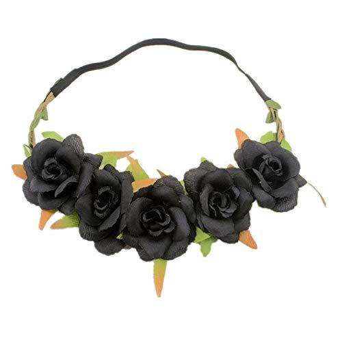 Tony plate Accessoires pour Cheveux Bohême Rose Fleur Bandeaux Chapeaux De Mariage De Mariée Artificielle Floral Cheveux Bandes Bridemaids Guirlande C