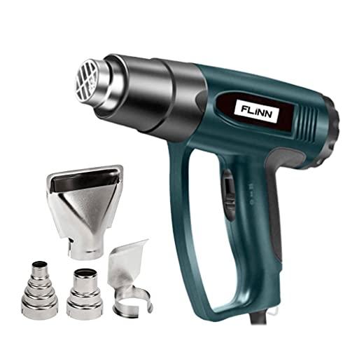 Flinn Heat Gun| 2000W Professional Hot Air Gun| 50℃- 600℃ Variable Temperature Control| Hot Air Gun with 2 Temperature Settings for Remove Paint, Varnish, Crafts, Dissolve Adhesives