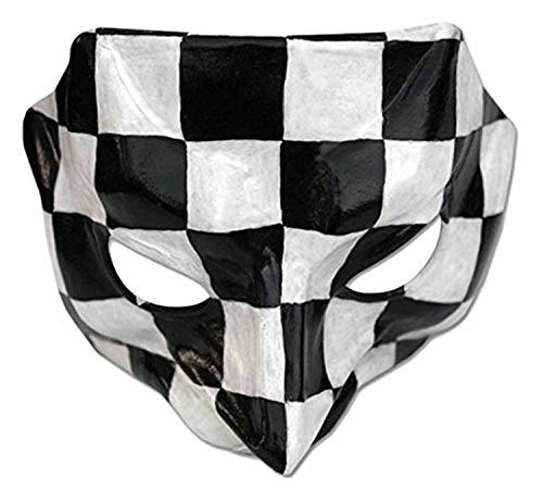 NOVICA 342.897,5cm Pantalone Leder Maske, weiß schwarz und weiß schwarz