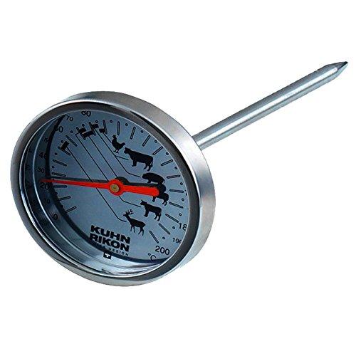 KUHN RIKON termometro, Acero Inoxidable, 12 cm