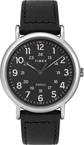 Timex Herren Analog Quarz Uhr mit Leder Armband TW2T30700