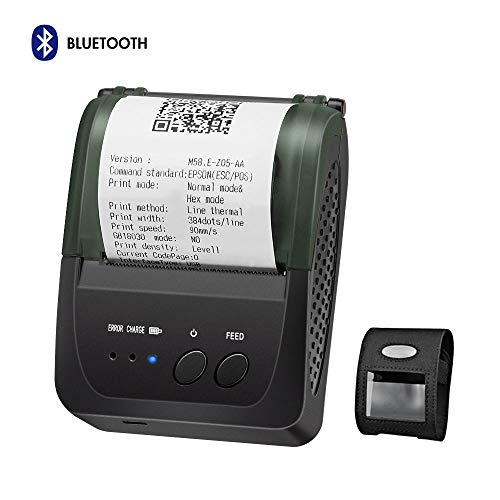 Bluetooth Thermal Receipt Printer, LOSRECAL Portable Personal Bill Printer with Carrying Case, Mini Wireless 58mm Mobile Printer Compatible with Android/Windows, DO NOT Support Square/iOS/ipad/iPhone