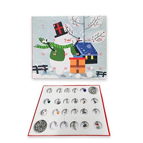 Kungfu Mall Adventskalender Weihnachtskalender 24 Tage Countdown Weihnachten Adventskalender Charms Modeschmuck für Kinder Brettspiel Geschenkbox