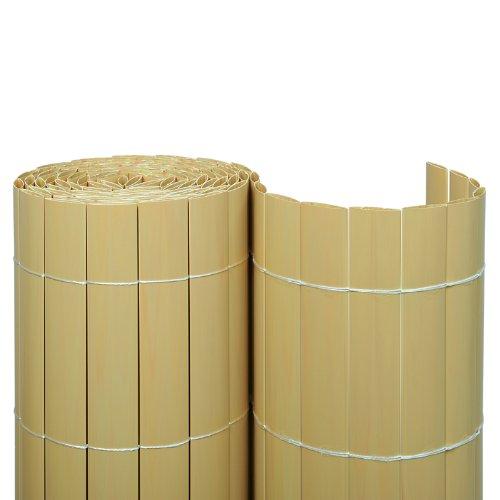 Sichtschutzmatte PVC 0,90 x 10,00 m/bambus