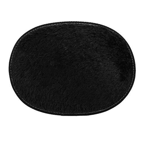 Sunnymi - Alfombra de felpa, forma ovalada, antideslizante, lavable, para sofá, sala de estar, dormitorio