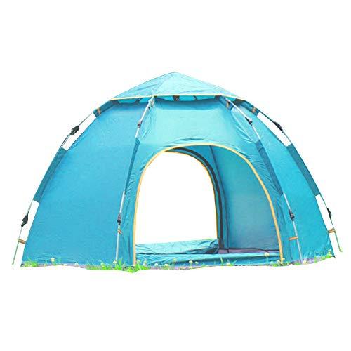 Wsaman 3-4 Personen Leichtes Schnellaufbau-Zelt, Portable Beach Zelt Gartenpavillon Pop up Pavillon Campingzelt Anti-UV für Trekking, Camping Outdoor Festival Outdoor-Strand Tents,Blau