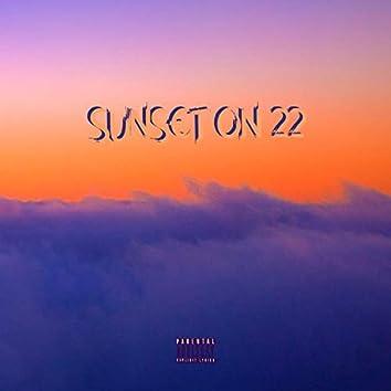 Sunset on 22
