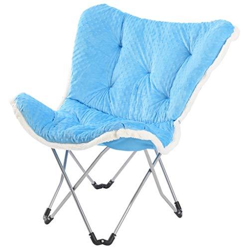 HLL Klappstuhl, Tragbare Padded Folding Indoor Outdoor Camping Reise Strand Garten Angeln Moon Chair Folding Sitzmulticolor