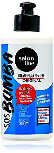 Linha Tratamento (SOS Bomba de Vitaminas) Salon Line - Creme Para Pentear Explosao De Forca 300 Ml - (Salon Line Treatment (Vitamin Bomb SOS) Collection - Power Explosion Combing Cream 10.14 Fl Oz)