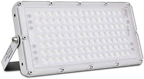 1pcs*100W LED Fluter, LED Strahler Außen 100W led lampe Scheinwerfer Flutlicht Superhell Kaltes Weiß 10000LM IP65 Wasserdicht mit 180°Rotations für Garten Garage Oder Sportplatz