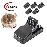 Welltop Mäusefalle 6 stück Rattenfalle Schlagfalle aus Kunststoff Hygienisch Wiederverwendbar