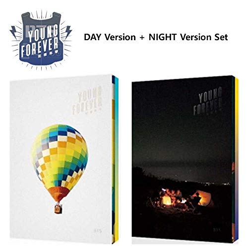 BTS Young Forever (Day+Night Version Set) In The Mood For Love Special Bangtan Boys Album 4 CDs+2 Posters+2 Photobooks+2 Polaroid Cards+Gift (Extra 6 Photocards)
