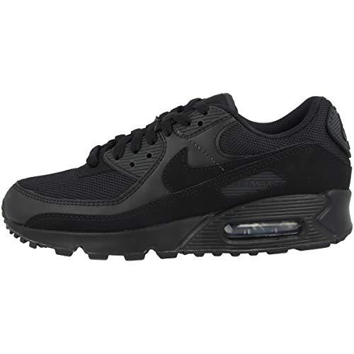 Nike Damen Air Max 90 Women's Shoe Laufschuh, Black/Black-Black-White, 38.5 EU