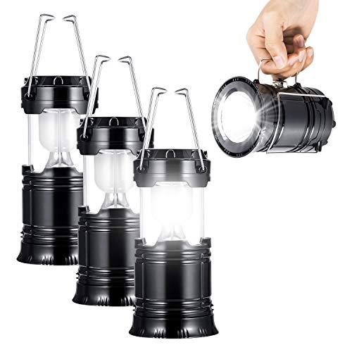 LED Camping Lantern with Flashlight,The Original & Best Lantern/Flashlight Combo,Great Light for Camping, Car, Shop, Attic, Garage etc.(3 PACK)