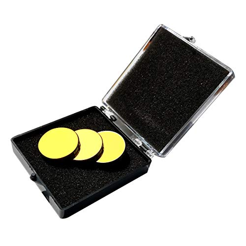 CNCOLETECH 3PCS Si Mirror Coated Gold Dia:20mm for CO2 Laser Engraving Cutting 40W-150W