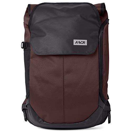 AEVOR Bike Pack - erweiterbarer Fahrrad-Rucksack, wasserfest, Rückenbelüftung, Laptopfach - Proof Maroon - Braun