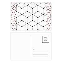 六角形の線画イラストパターン粒 クリスマスの花葉書を20枚祝福する